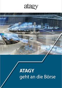 "Cover der Broschüre 1 zum fiktiven Thema ""Atagy geht an die Börse"""