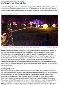 """Bild zum Bericht über das Event """"Weihnachten im Tierpark Berlin"""""""